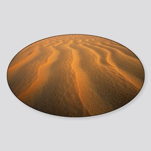 Ripples in sand - Sticker (Oval)