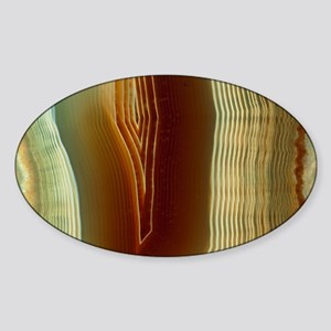 Polished slice of agate - Sticker (Oval)