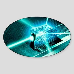 Quantum computer core - Sticker (Oval)
