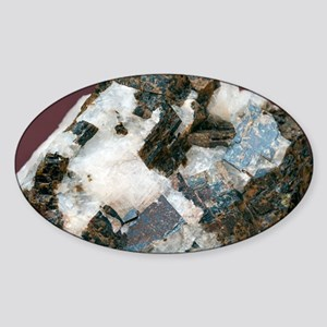 Siderite in cryolite matrix - Sticker (Oval)