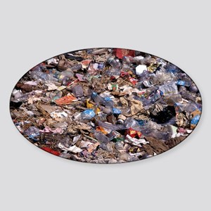 Rubbish tip - Sticker (Oval)