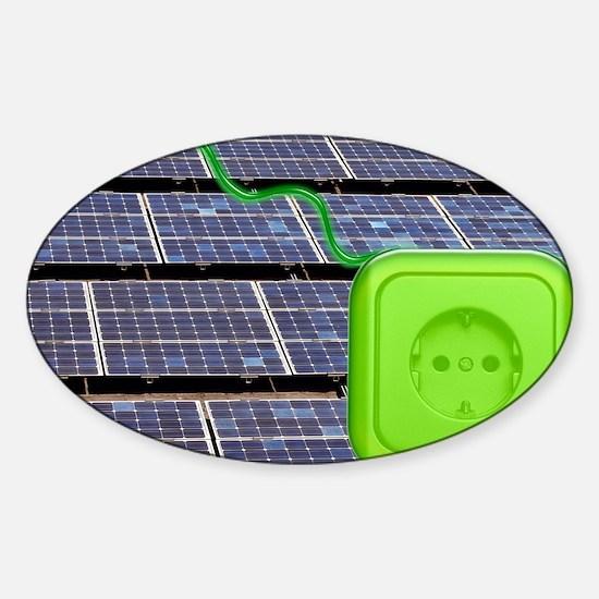 Solar power, conceptual image - Sticker (Oval)