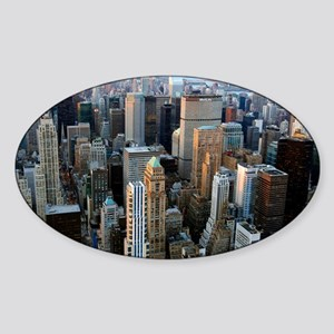 Skyscrapers, Manhattan, New York - Sticker (Oval)