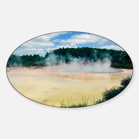 The Champagne Pool, New Zealand - Sticker (Oval)