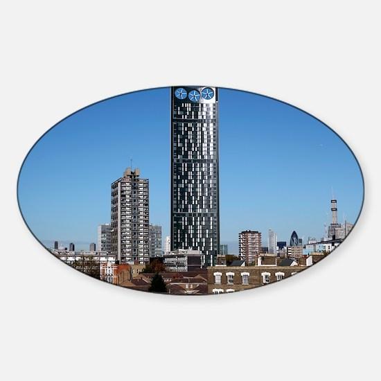 Strata skyscraper - Sticker (Oval)