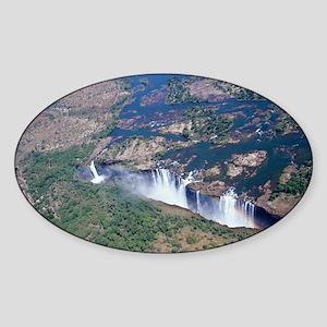 Victoria Falls - Sticker (Oval)