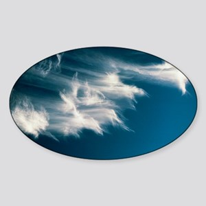 Wisps of cirrus cloud in the sky - Sticker (Oval)