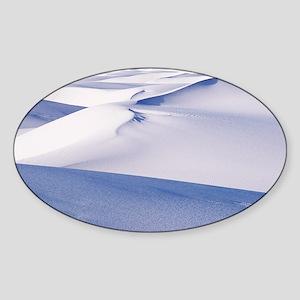 White sand dunes - Sticker (Oval)