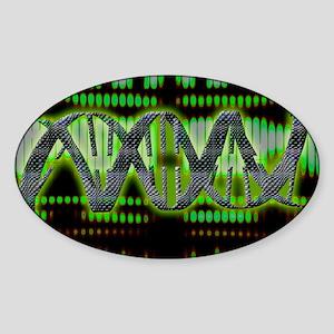 DNA helix - Sticker (Oval)