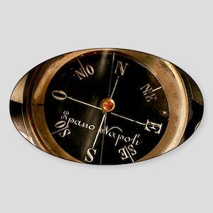 Compass - Sticker (Oval)