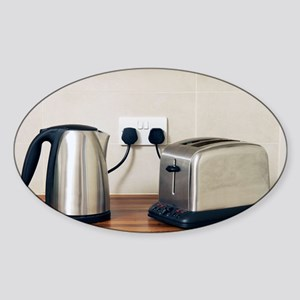 Electric kettle and toaster - Sticker (Oval)