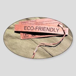 Organic cotton fabric - Sticker (Oval)