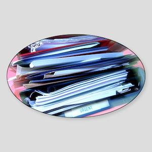 Overflowing in-tray - Sticker (Oval)