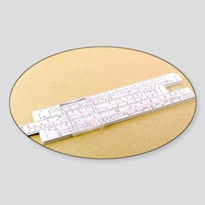 Logarithmic slide rule - Sticker (Oval)