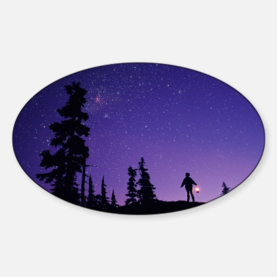 Starry sky - Sticker (Oval)