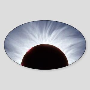 Total solar eclipse - Sticker (Oval)
