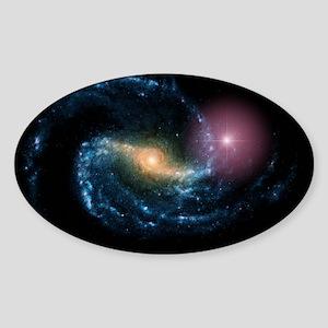 Supernova in galaxy NGC 1300 - Sticker (Oval)