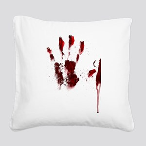 The Red Hand Square Canvas Pillow