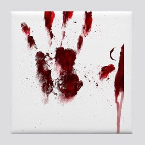 The Red Hand Tile Coaster