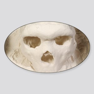 3D cast of hominid skull - Sticker (Oval)