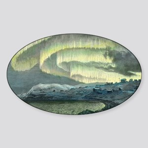 Aurora observations, 1839 - Sticker (Oval)