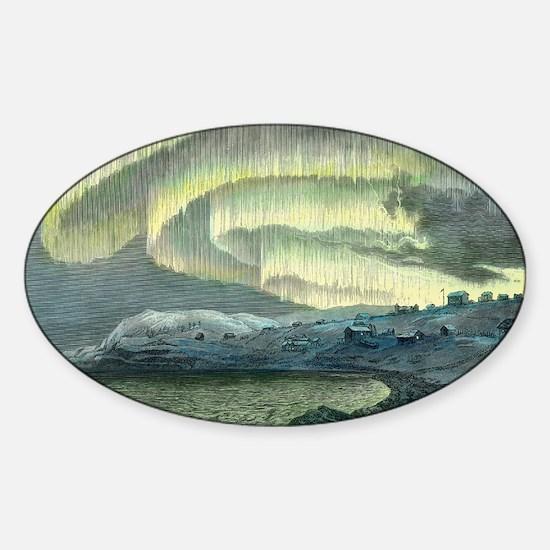 Aurora observations, 1839 - Sticker (Oval)