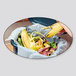 Composting kitchen waste - Sticker (Oval)