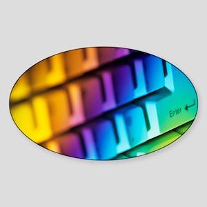 Computer keyboard - Sticker (Oval)