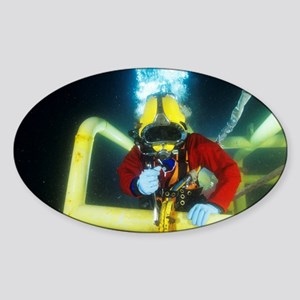 Commercial diver - Sticker (Oval)