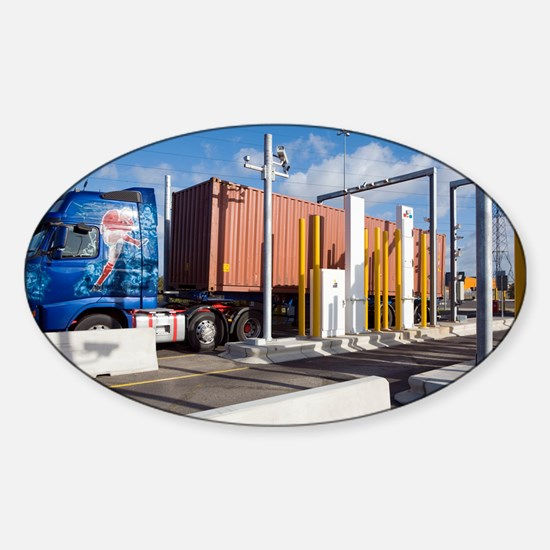 Container port security - Sticker (Oval)