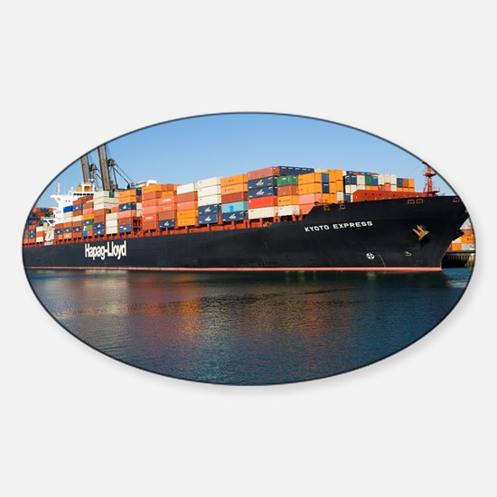 Container ship - Sticker (Oval)