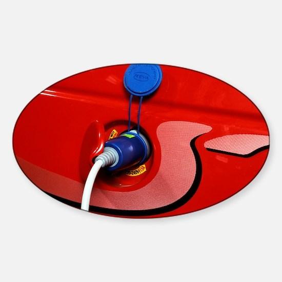 Electric car - Sticker (Oval)