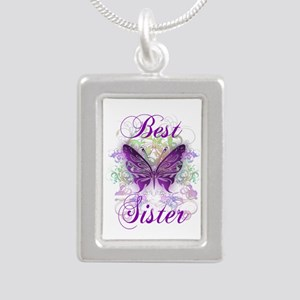 Best Sister Silver Portrait Necklace