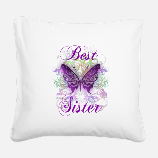 Best Sister Square Canvas Pillow