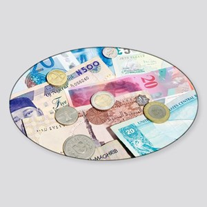 International currency - Sticker (Oval)