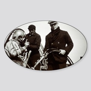 Historical diving suit - Sticker (Oval)