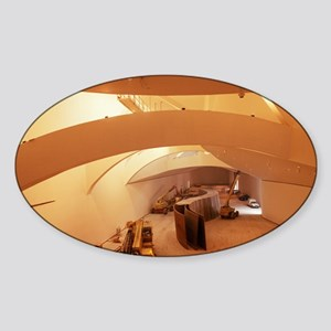 Guggenheim Museum interior - Sticker (Oval)