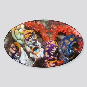 Ink-spot sea squirts - Sticker (Oval)
