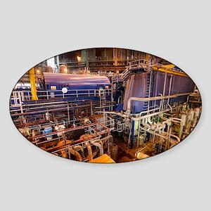 Power station turbine hall - Sticker (Oval)