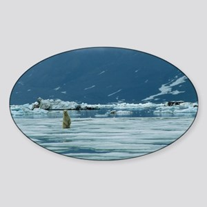 Polar bear - Sticker (Oval)