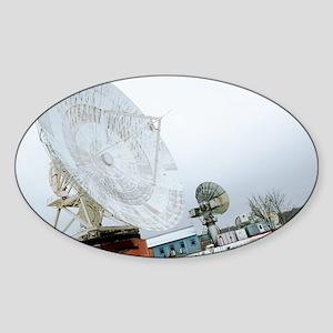 Satellite monitoring station - Sticker (Oval)