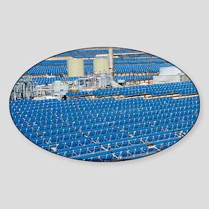Solar power plant, California - Sticker (Oval)