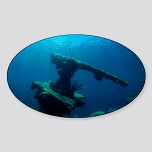 Sunken gun - Sticker (Oval)