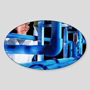 Water treatment plant - Sticker (Oval)