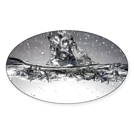 Water, high-speed photograph - Sticker (Oval)