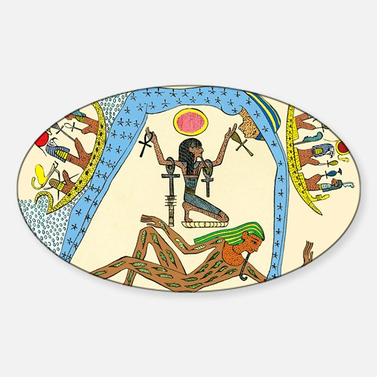 Egyptian creation myth - Sticker (Oval)