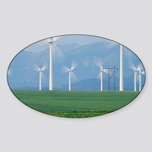 Wind turbines - Sticker (Oval)