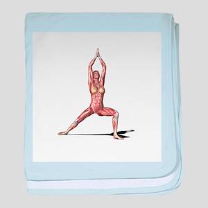Female muscles, artwork - Baby Blanket