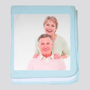 Happy senior couple - Baby Blanket