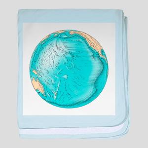 Pacific Ocean sea floor topography - Baby Blanket